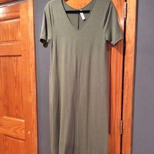 Zenana maxi dress (olive)